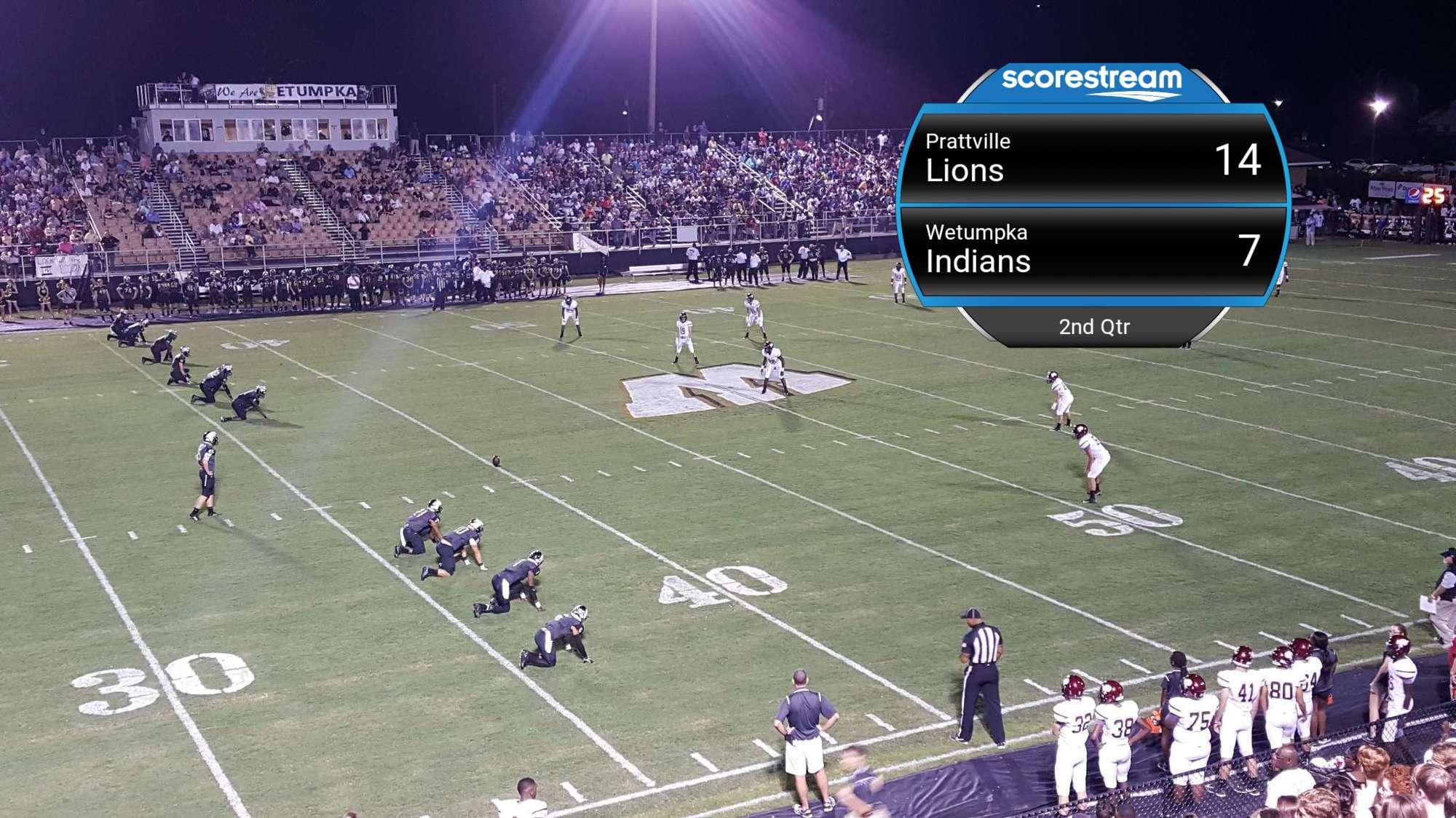 The Prattville Lions Vs The Wetumpka Indians Scorestream