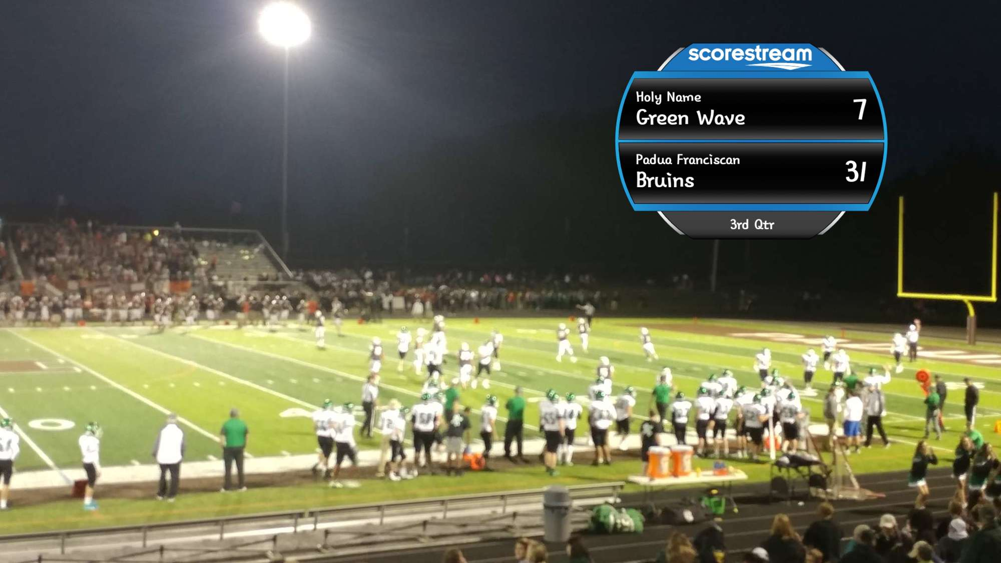 The Padua Franciscan Bruins Defeat The Holy Name Green Wave 38 To 7