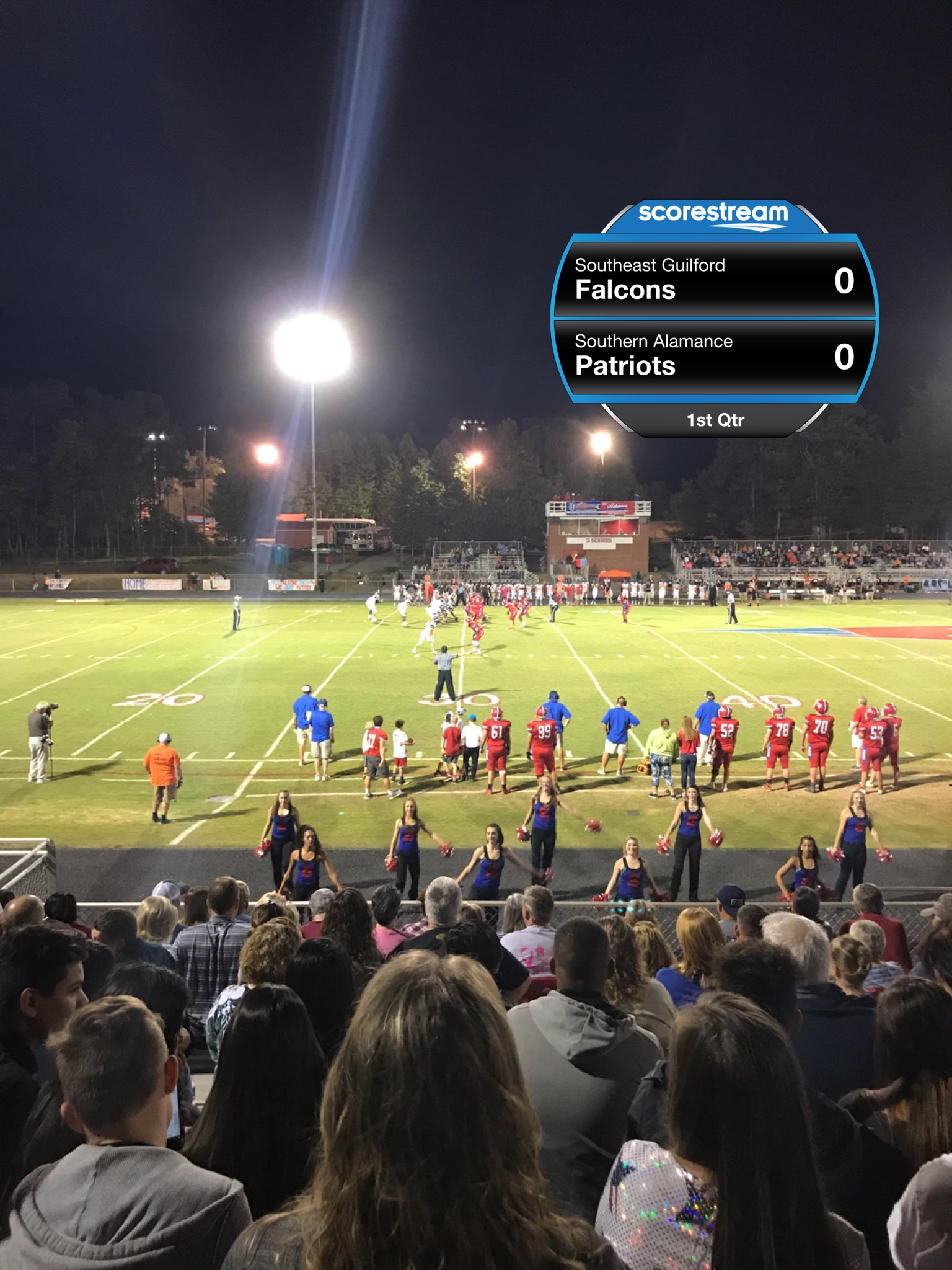 The Southeast Guilford Falcons Defeat The Southern Alamance Patriots