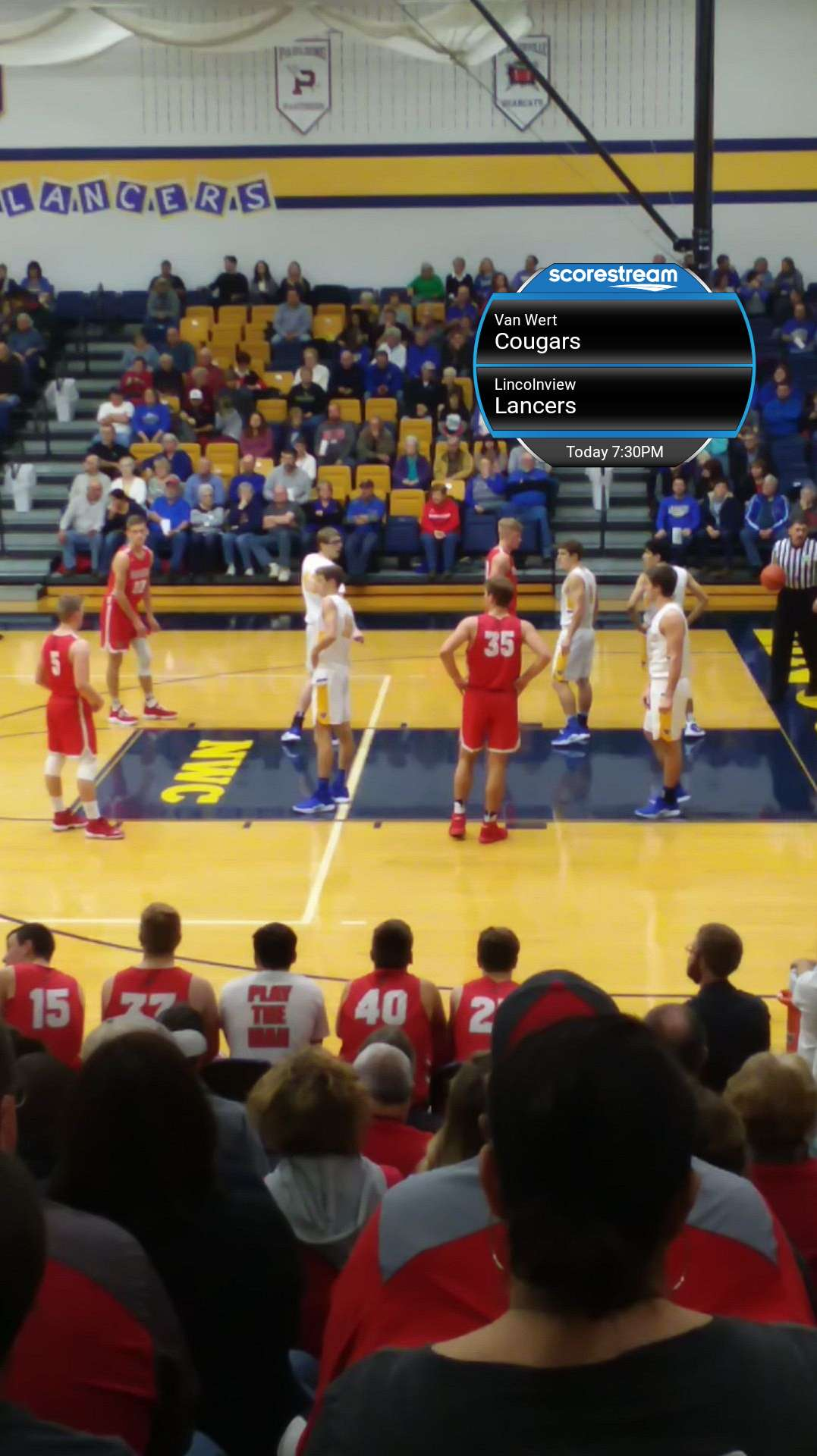 The Lincolnview Lancers Defeat The Van Wert Cougars 58 To 57