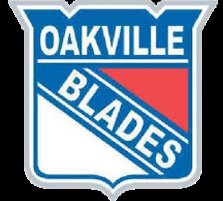 Oakville Blades mascot