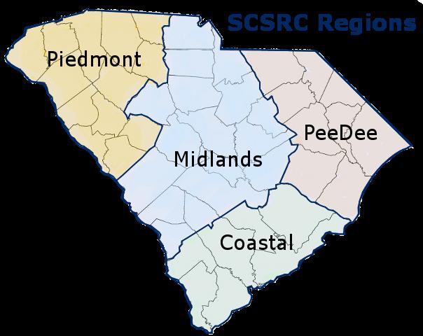 SCSRC Regions Map