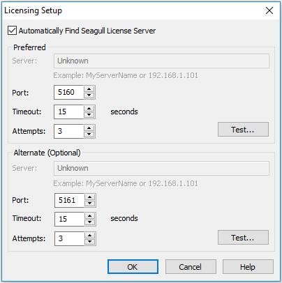 BarTender cannot locate Seagull License Server in BarTender