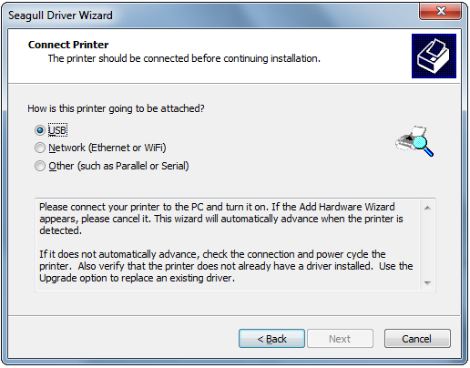 Installing a Seagull driver for a USB printer – BarTender