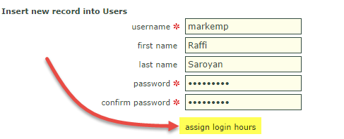 assign login hours