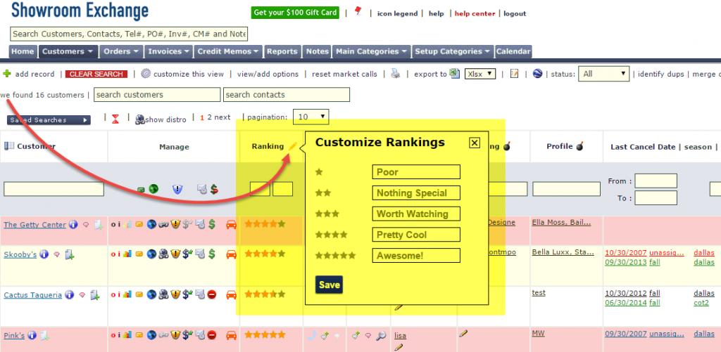 customize rankings