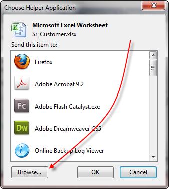 Excel Browse