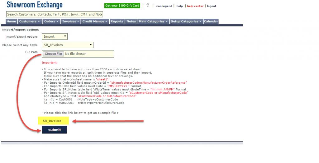 invoice import2