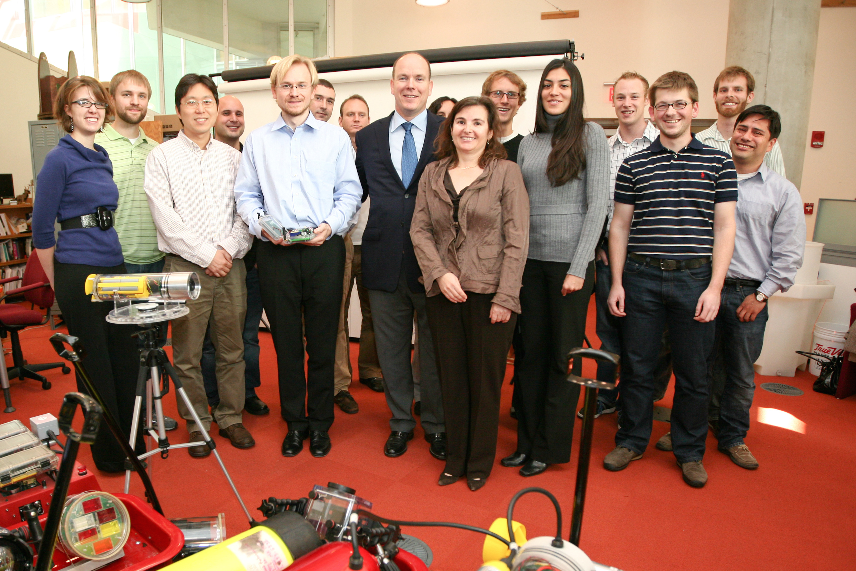 MIT's Ditributed Robotics Lab demonstrating robots for the President of Monaco