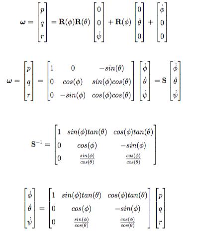Quadrotor Model Rotational Kinematics