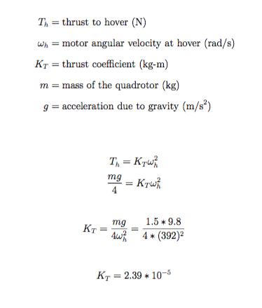Quadrotor Motor Thrust Coefficient Calculation