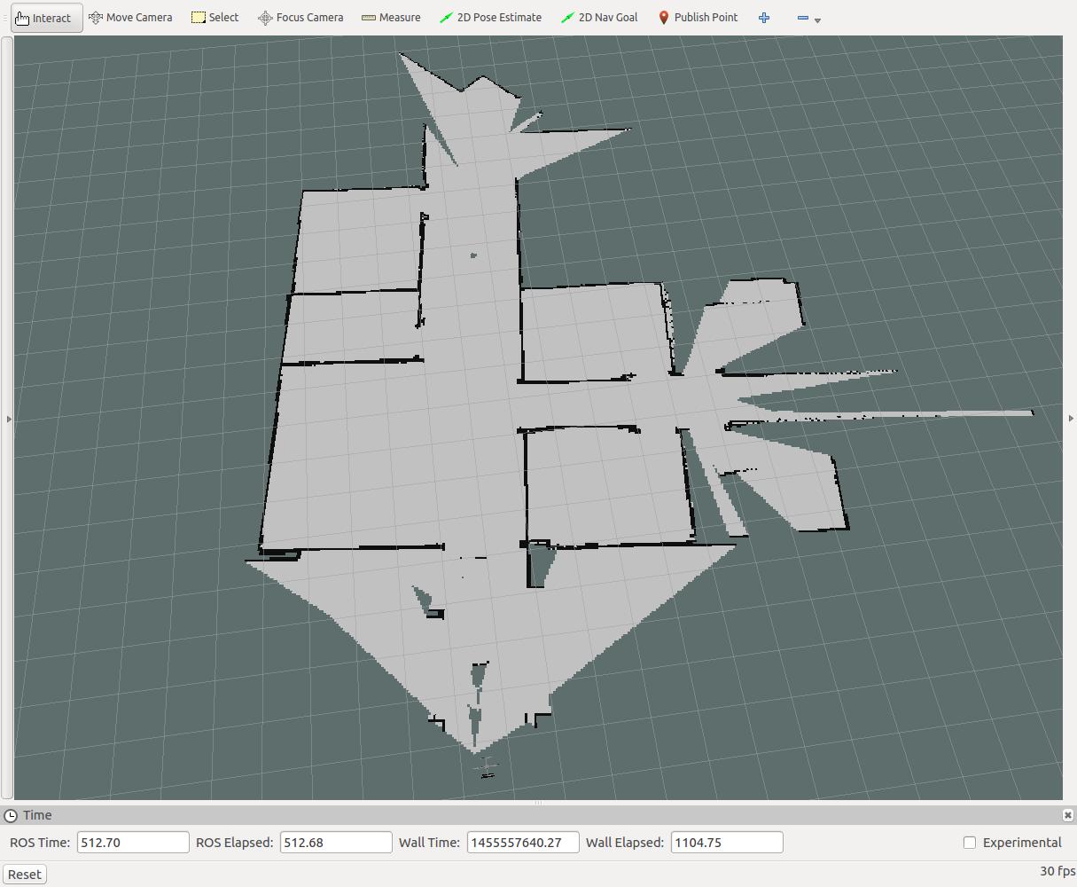 ROS RVIZ Quadrotor 2D Mapping Simulation