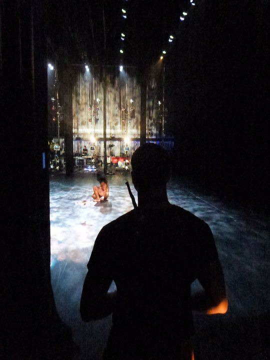 Wil Selby Backstage Performing Seraph With Pilobolus
