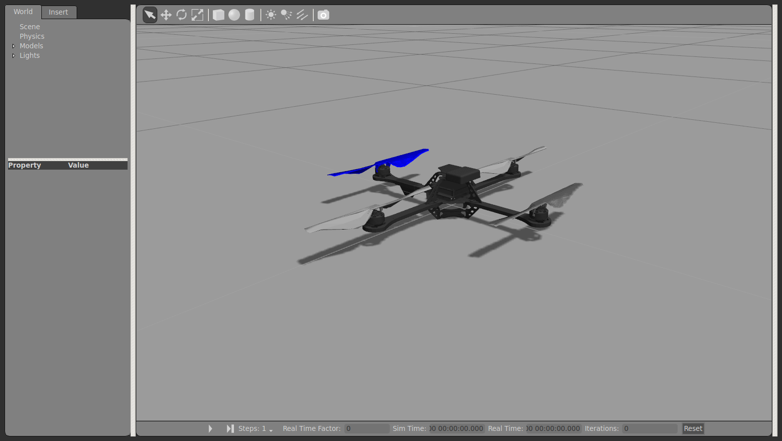 ROS Integration - Quadrotor Model Dynamics & Sensor Simulation