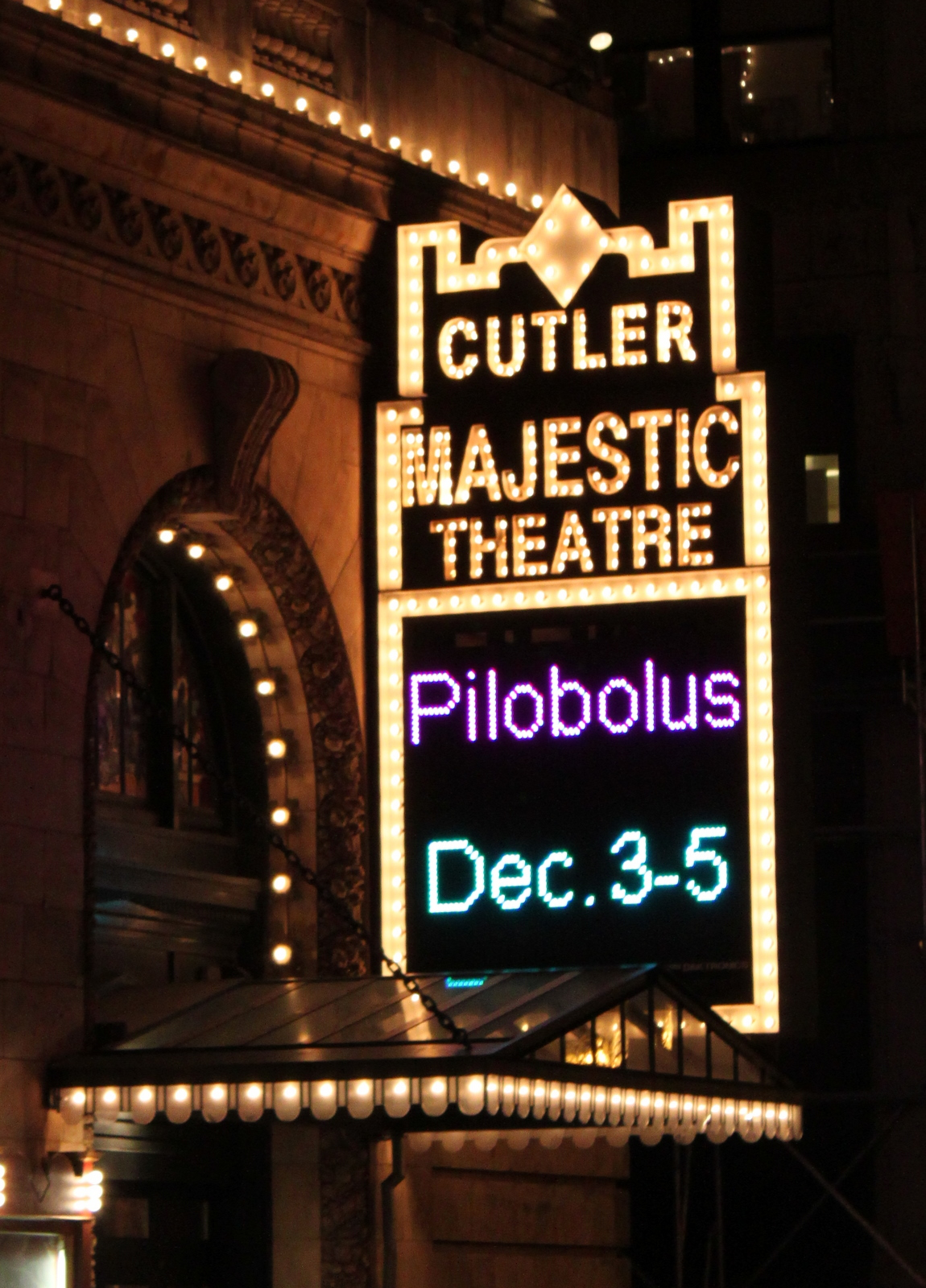 Cutler Majestic Theater in Boston for premier of Seraph by Pilobolus and MIT