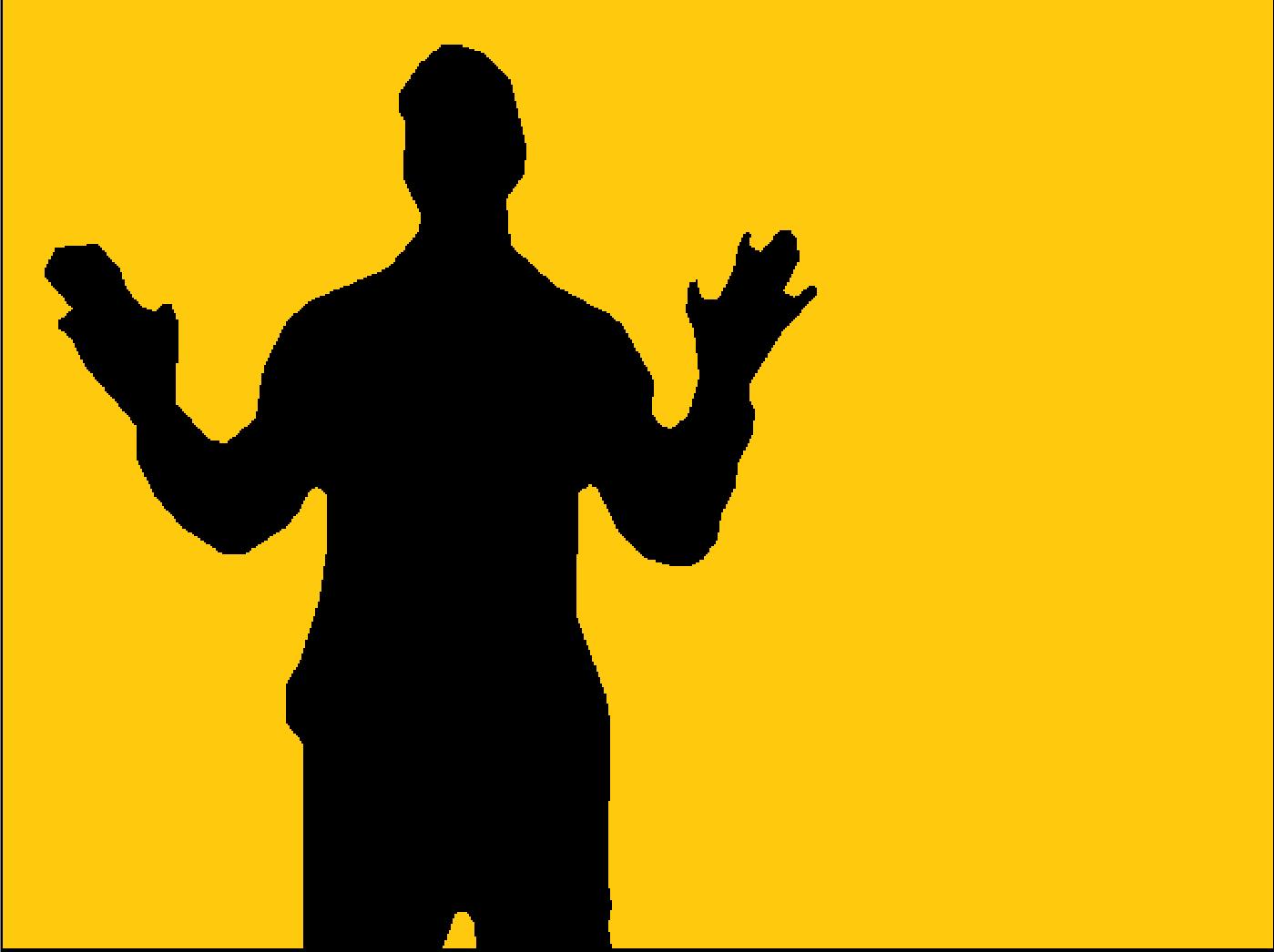 Microsoft Kinect Pilobolus Shadow Program Output