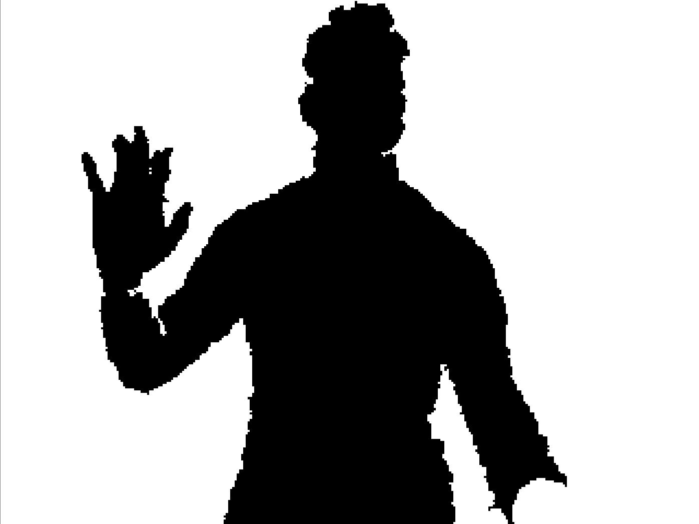 Microsoft Kinect Depth Sensor Output Image
