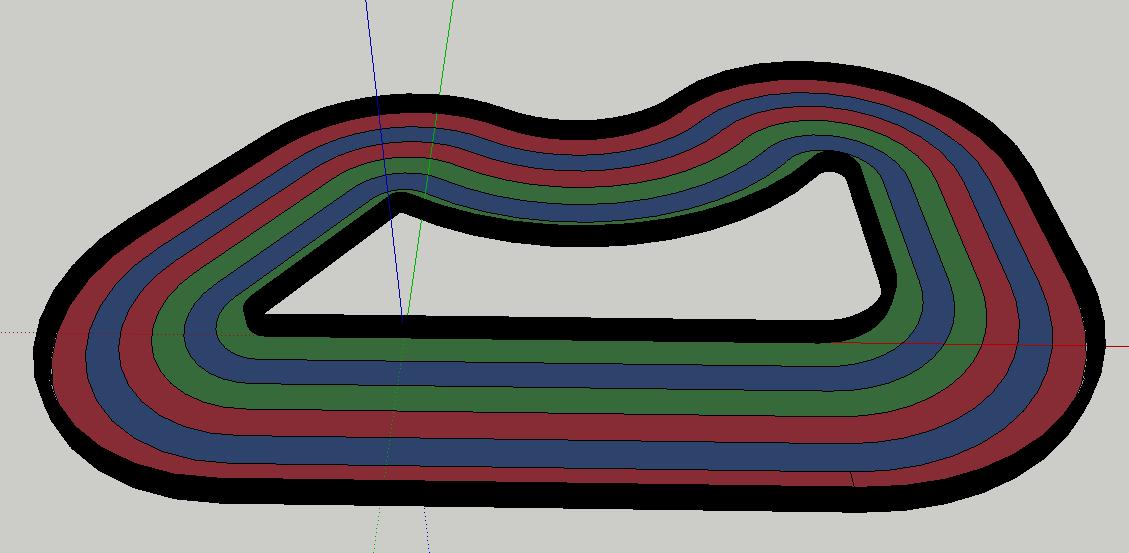 FormulaPi Track Sketchup Model