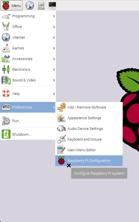Raspberry Pi Integration Configuration Settings