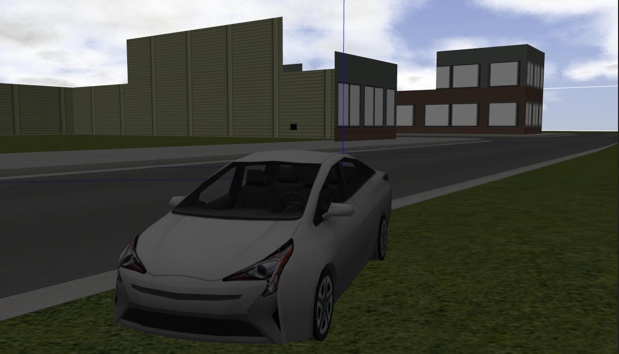 OS-1 ROS Gazebo Simulation with Prius in MCity