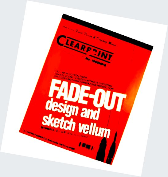 Clearprint 1000h Design Vellum Pad With Printed Fade Out 4x4 Grid