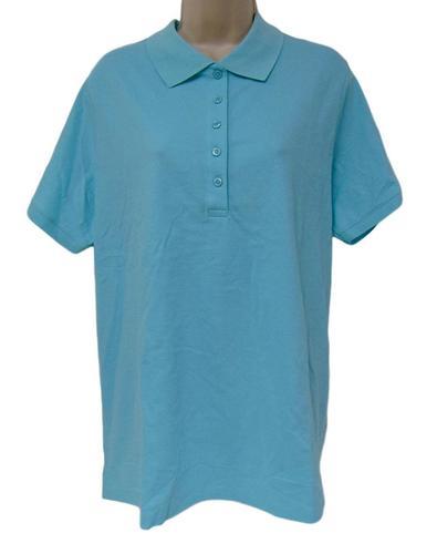 4abbf84a73c Laura Scott Women s Plus Size Knit Polo - Aruba Blue - 1X