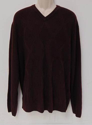 Dockers Mens Long Sleeve V-Neck Sweater