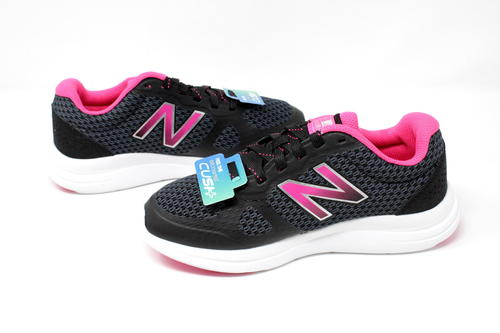 NEW BALANCE WOMEN'S Versi v1 Cushioning Running Shoe, BlackPink, 5 D US