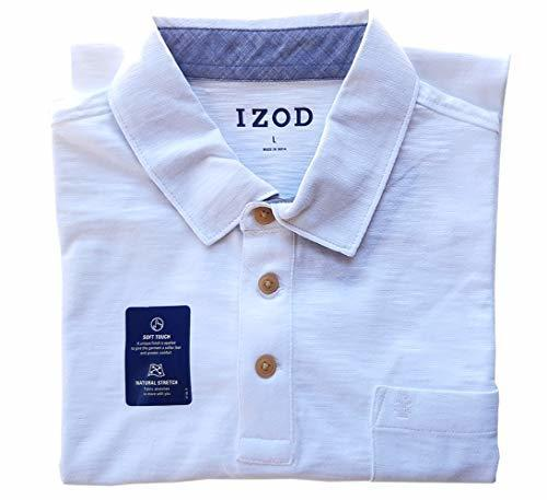 Izod Men/'s Slub Polo Shirts Variety NEW!