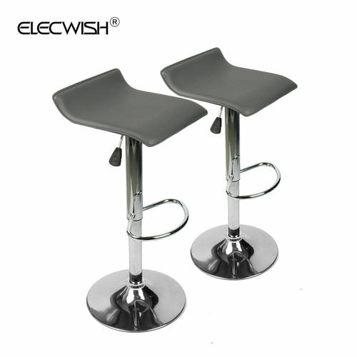 Brilliant Details About 2 X Modern Leather Bar Stool Adjustable Swivel Dining Counter Chair Seats Gray Theyellowbook Wood Chair Design Ideas Theyellowbookinfo