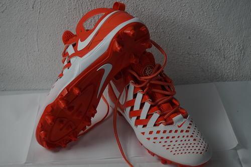 7792cfe00 Nike Men's Huarache V Lax ~ Team Org./Wht-Wht ~ Mid Cut Molded Cleats (10)