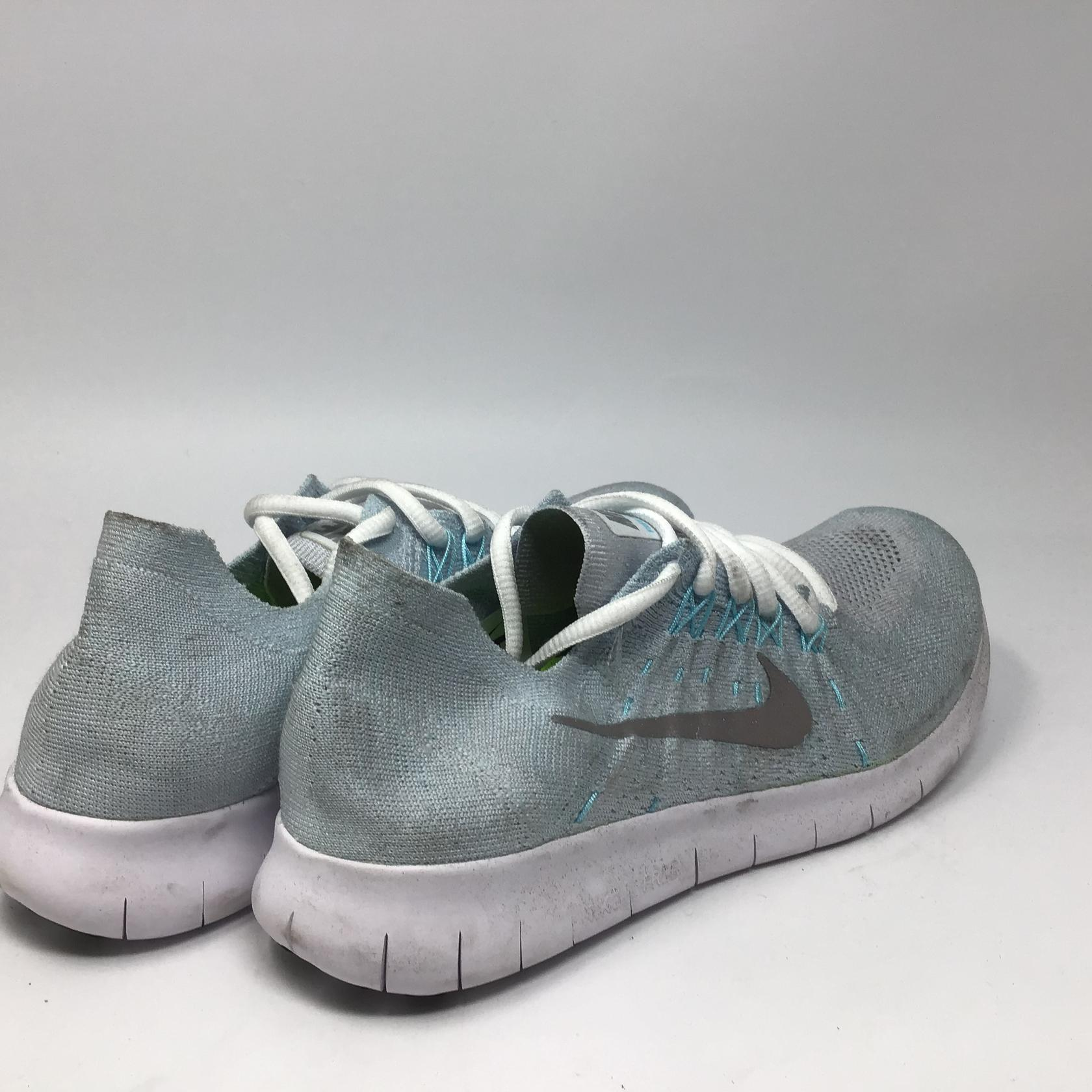 huge discount 5a041 c862e Details about Nike Womens Free RN Flyknit 2017 Running Shoe Pure  Platinum/Metallic Silver 9.0