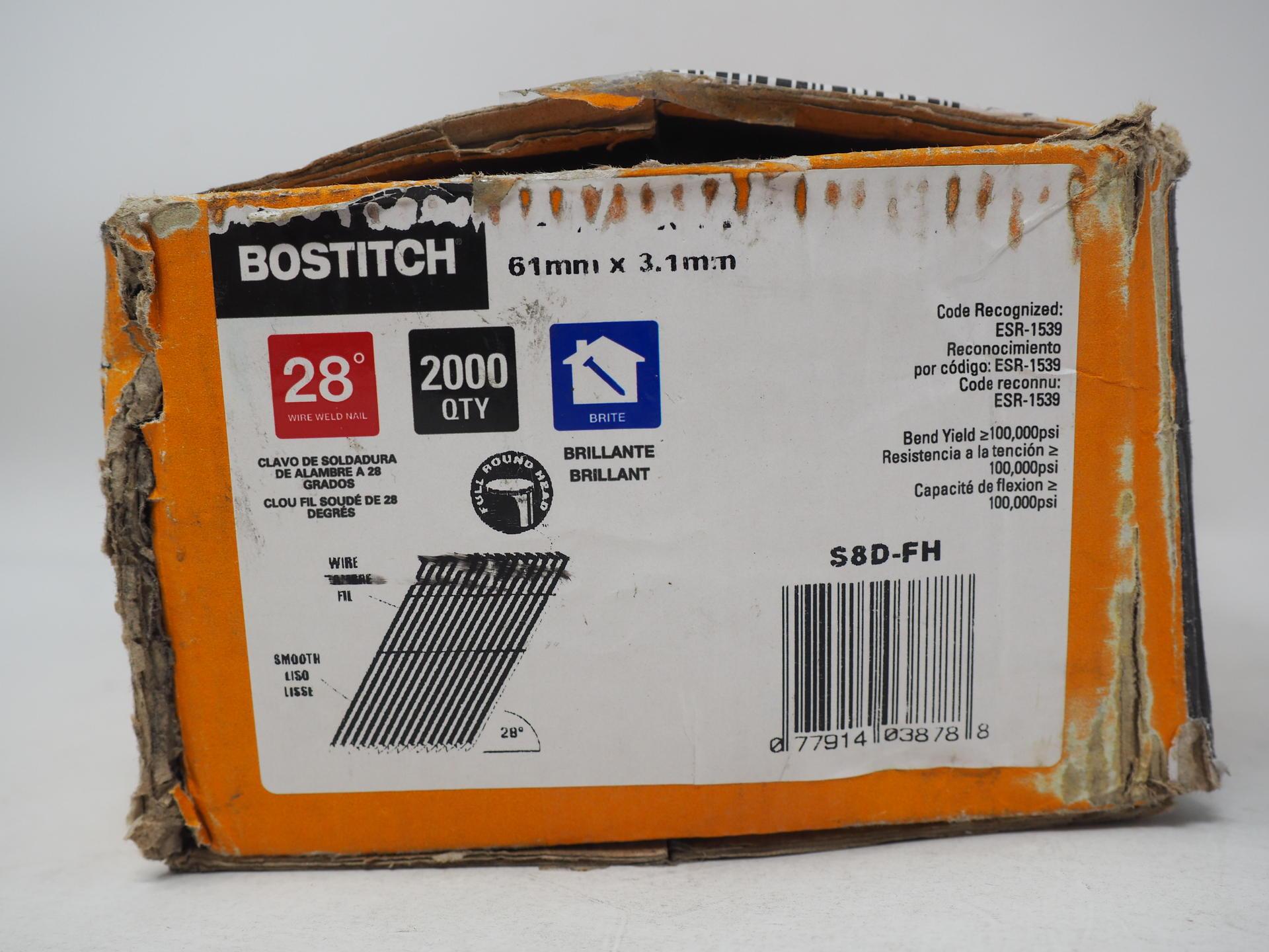 "Bostitch S8D-FH 2-3//8/"" X .120/"" Wire Weld Framing Nails 2,000 per Box"