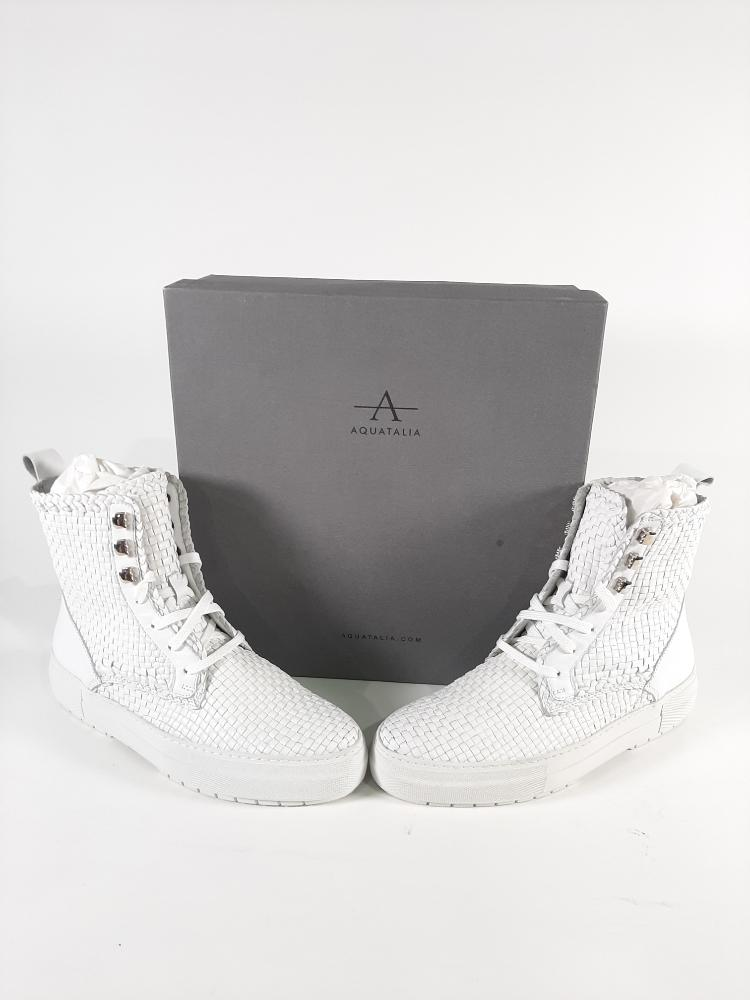 Aquatalia Women/'s Tess Woven Leather Sneaker Choose SZ//color
