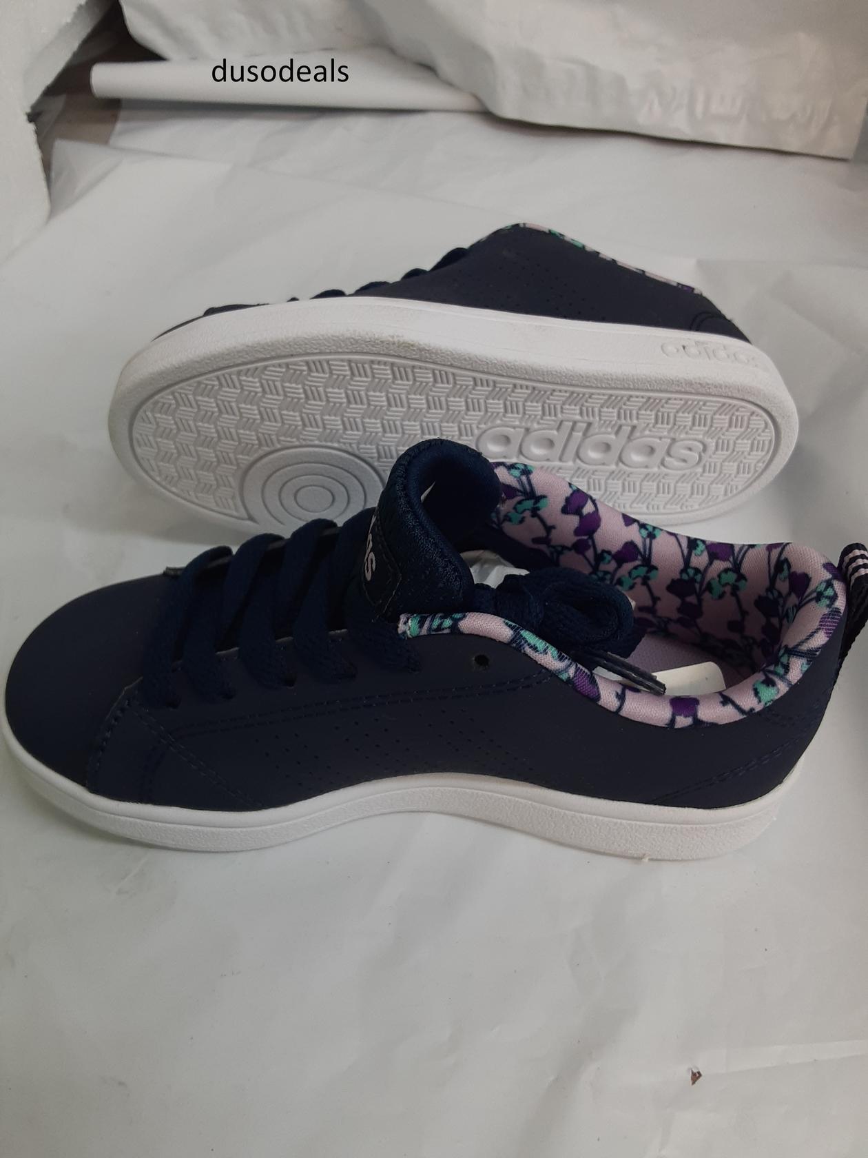 Adidas Neo VS Advantage Clean K, AW4121, Size 10.5 Kids, Blue ...