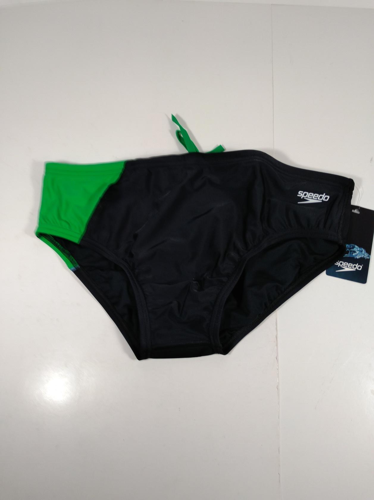 Speedo Mens Powerflex Eco Revolve Splice Brief Swimsuit