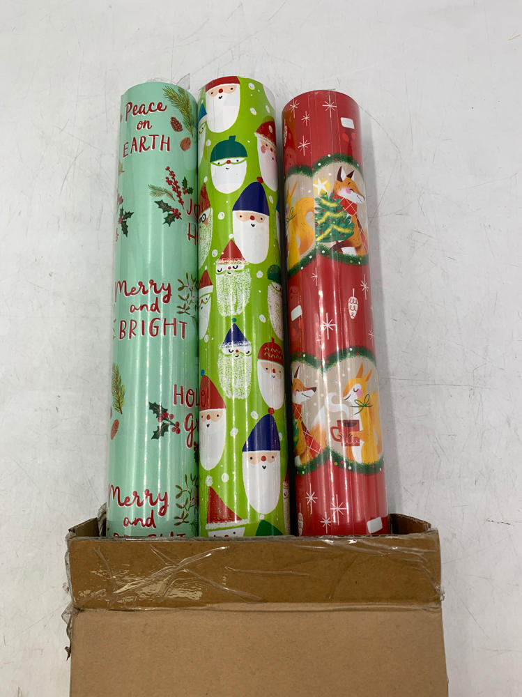 """Christmas 3 Pack 208 x 18/"""" Gift Wrapping Paper Rolls Holographic for Birthdays"""
