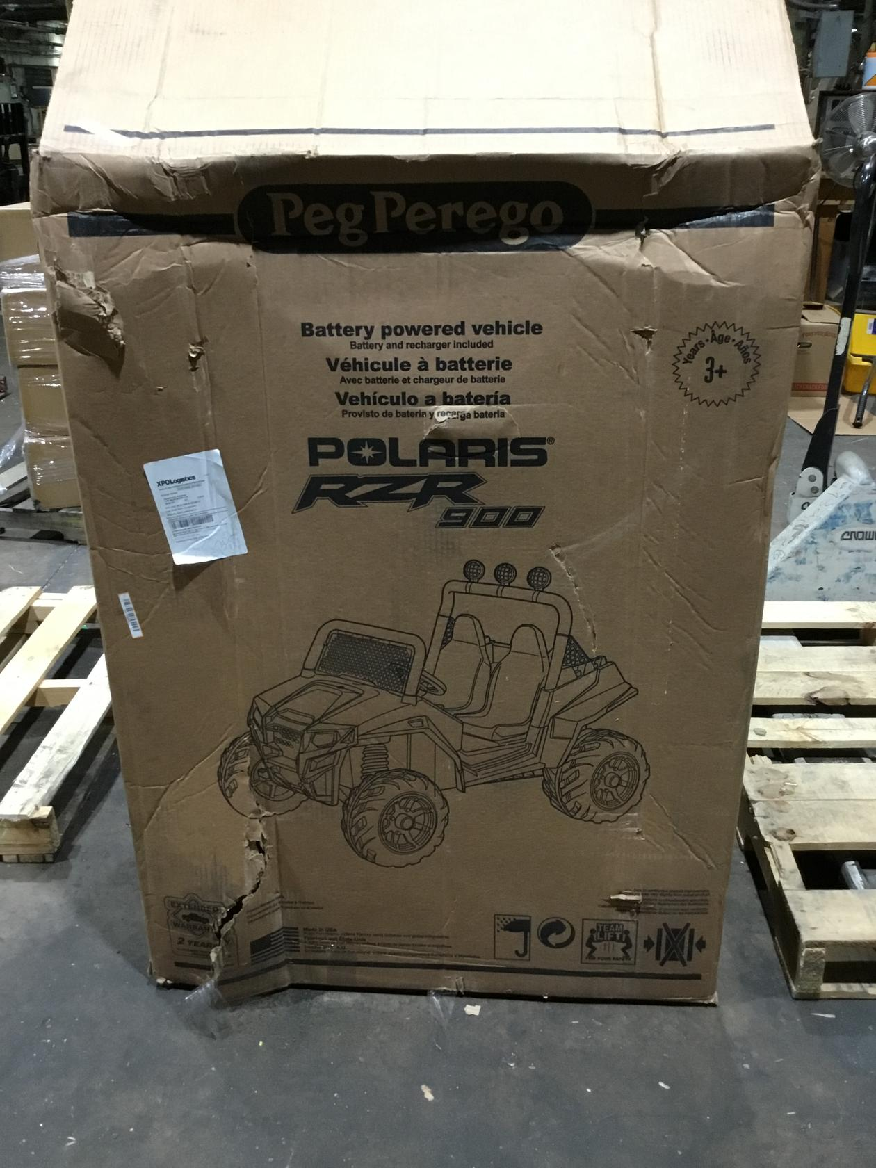 Peg Perego Polaris RZR 900 Red with Spare 12 Volt Battery and Charger