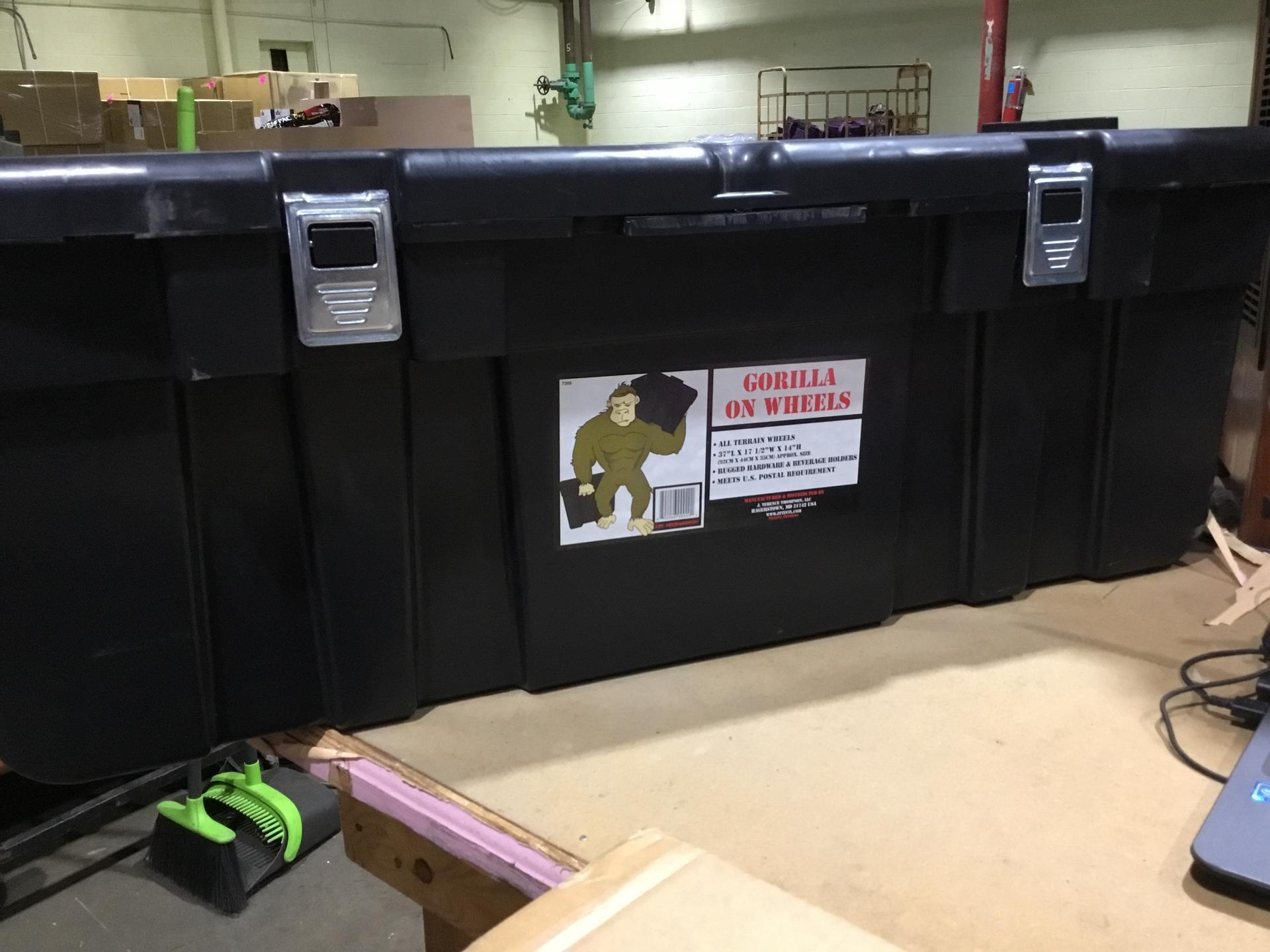 Superbox Gorilla on Wheels Storage Trunk - Black, Size 148