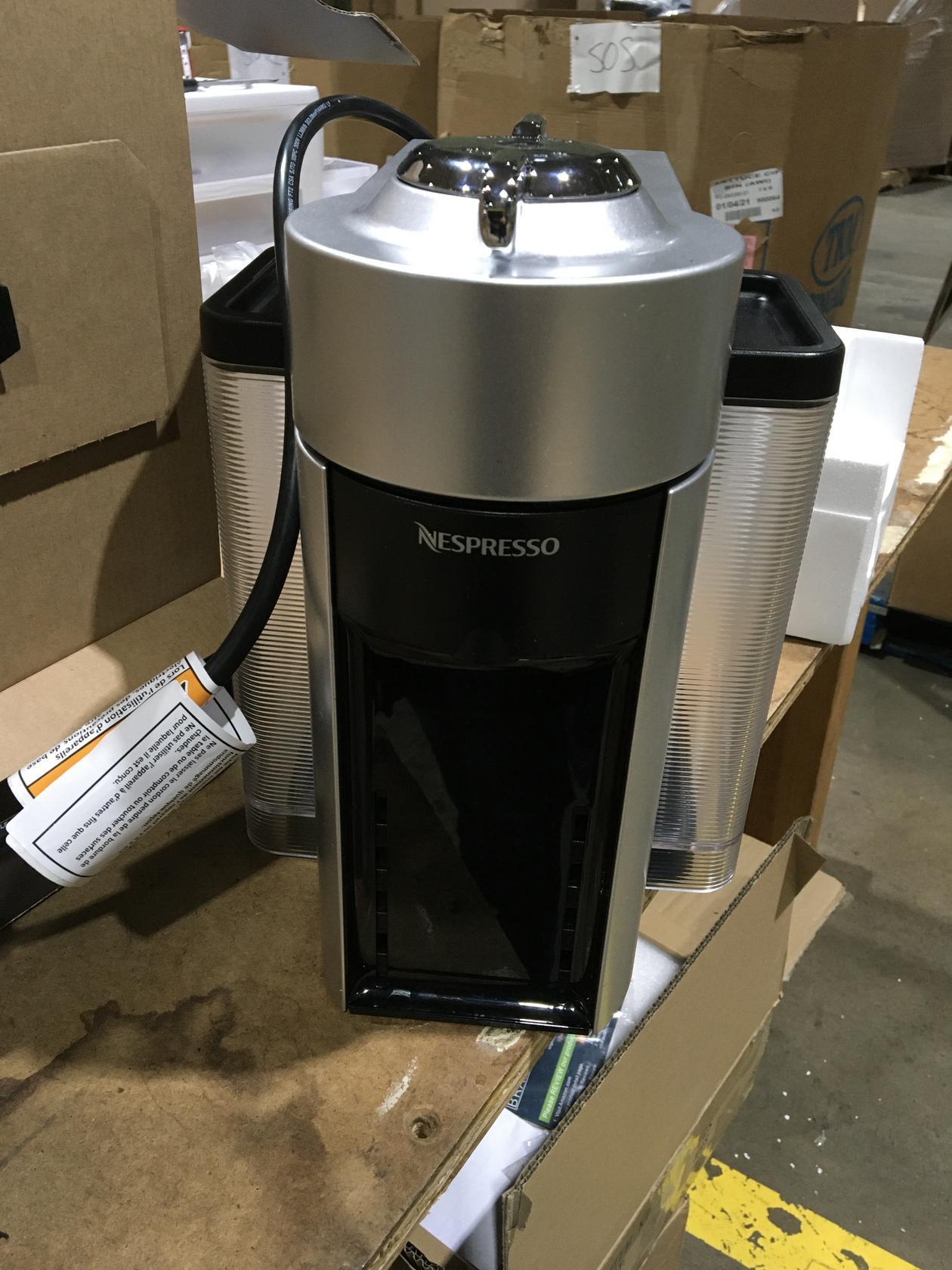 Nespresso Vertuo Evoluo Coffee and Espresso Machine by De'Longhi, Silver