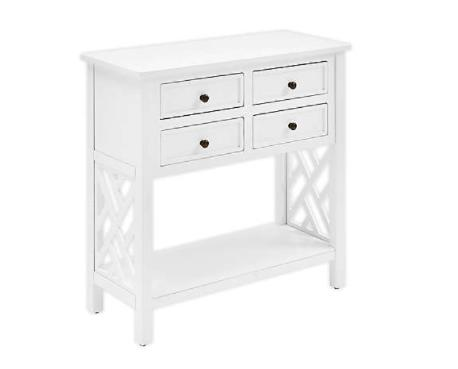 Alaterre Coventry 32W Wood Console Table with 4-Drawers