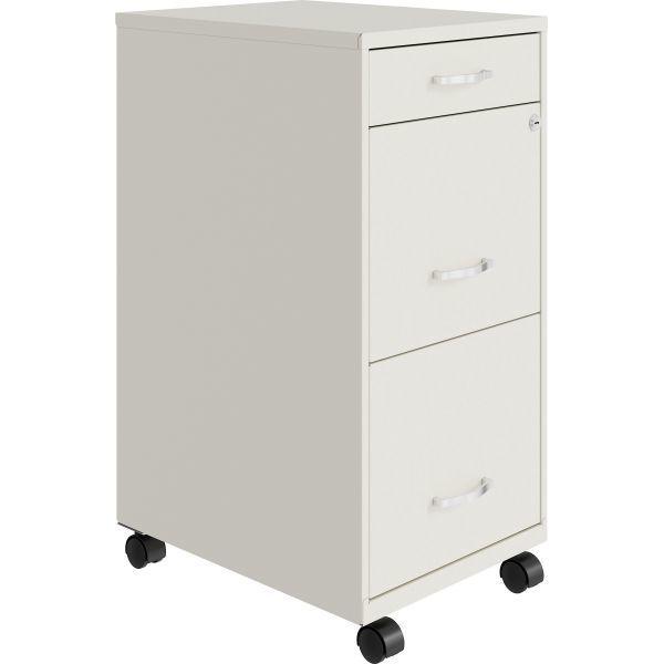 Lorell, SOHO 3-Drawer Steel Mobile File Cabinet (NO HANDLES)
