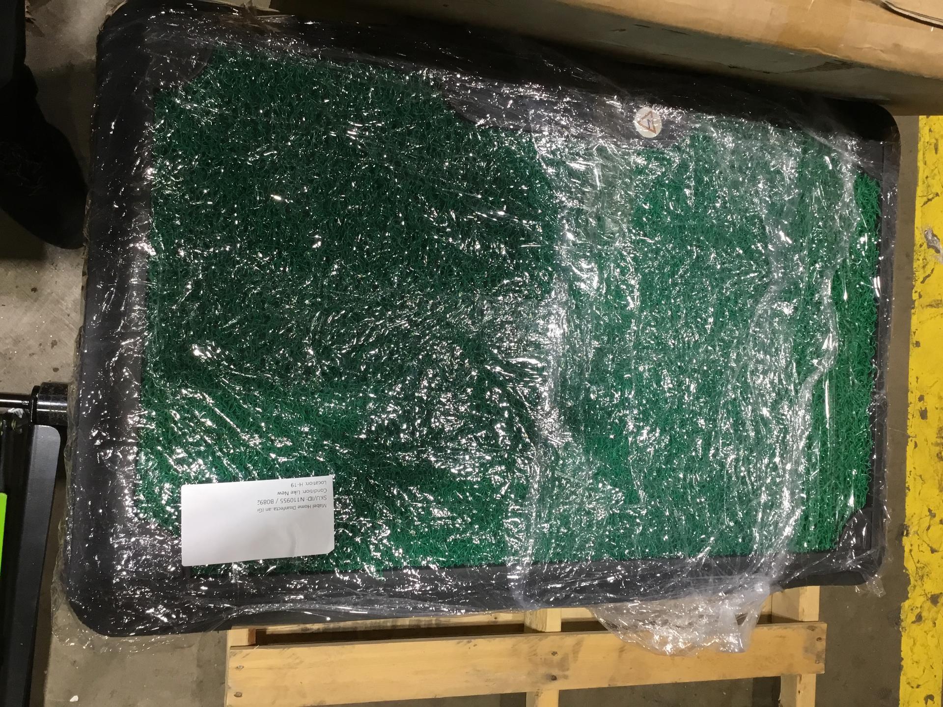 Mabel Home Disinfectant PVC Doormat, 18x28 , Corona Doormat, Outdoor-Indoor, Disinfectant Pool, Easy 2 Clean (Green)*Pack of 3*