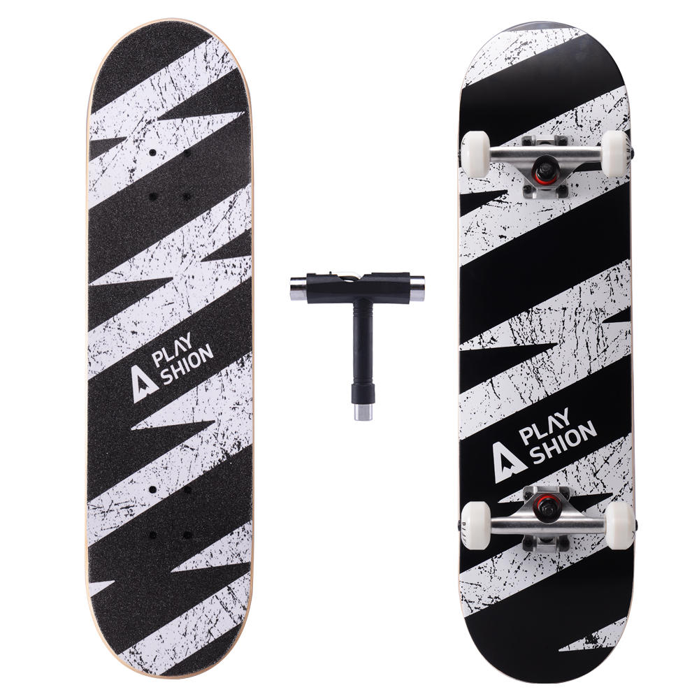 Playshion 31 Inch Complete Skateboard for Beginners