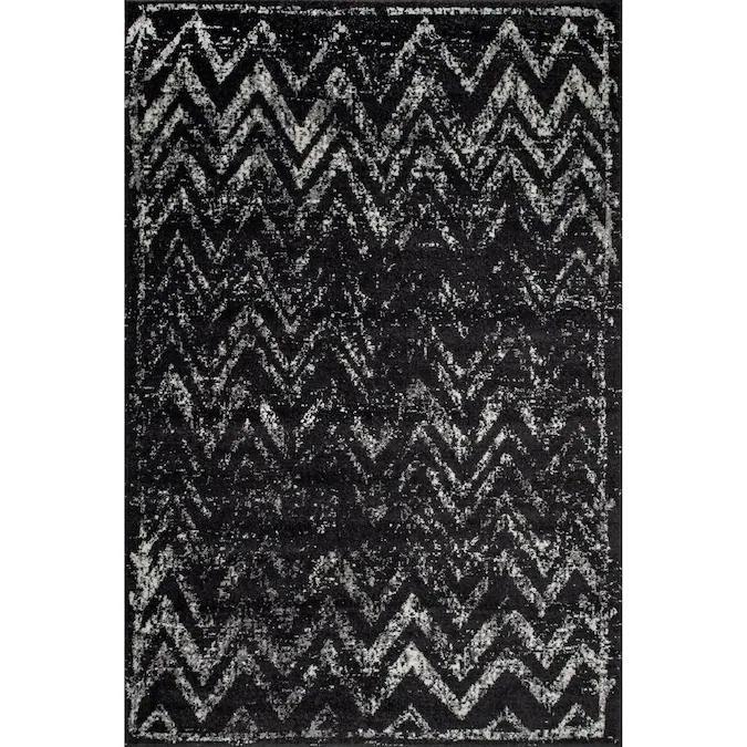 nuLOOM Blair 5' x 8' Black Indoor Chevron Area Rug