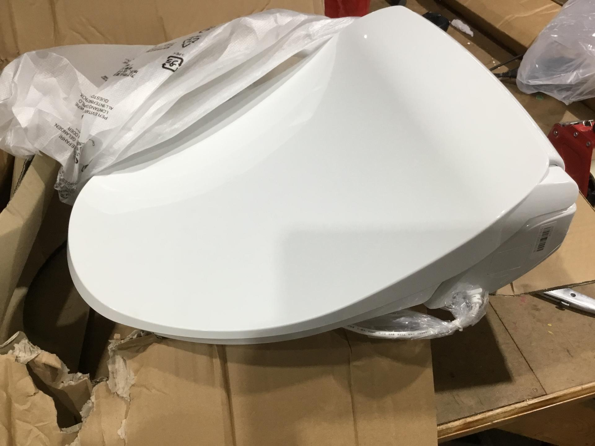 Alpha iX Hybrid Bidet Toilet Seat in Elongated White | Endless Warm Water | Stainless Steel Nozzle | 4 Wash Functions | LED Nightlight | Warm Air Dryer | Wireless Remote | Oscillation and Pulse