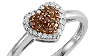 Brown heart diamond ring   index