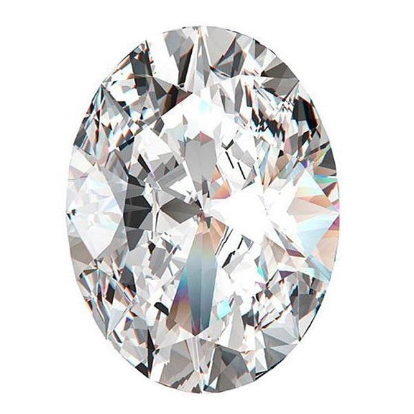 Oval diamond top