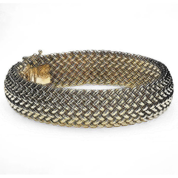 Appraisal For Mesh Bracelet Wide In Yellow Gold SellMyJewelry