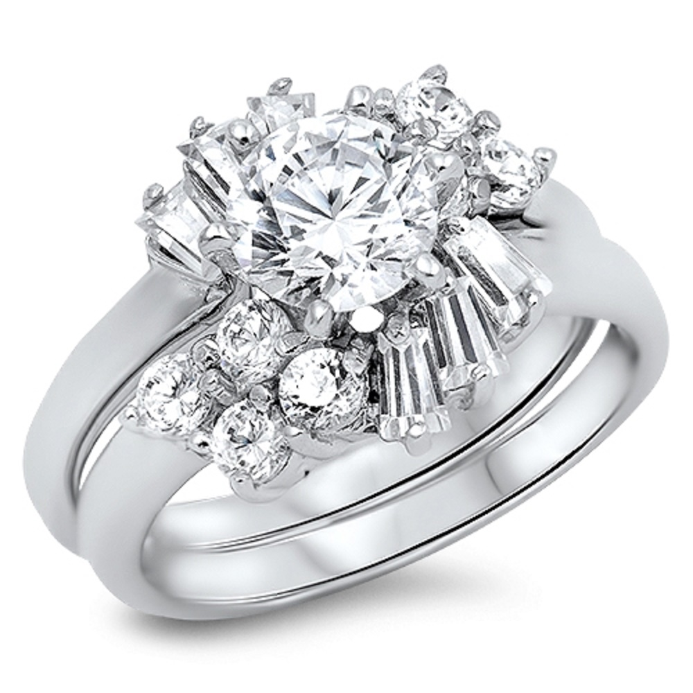STERLING SILVER Baby RING Wedding Ring Sets Engagement